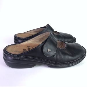 Leather Finn Comfort Stanford Mary Jane Mule Sz 37